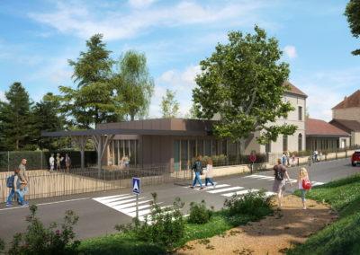 Infographiste 3D Architecture - Perspective 3D extension école et mairie