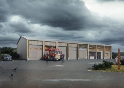 Infographiste 3D Architecture - Perspective 3D extérieure caserne centre de secours