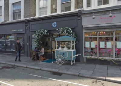 Infographiste 3D Architecture - Perspective 3D façade boulangerie Londres