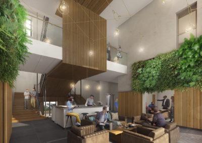 Infographiste 3D Architecture - Perspective 3D hall MJC maison des services